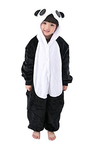 Kids' Unisex Kigurumi Pajamas Onesie(120#, red eyes panda) (Girls Panda Costume)