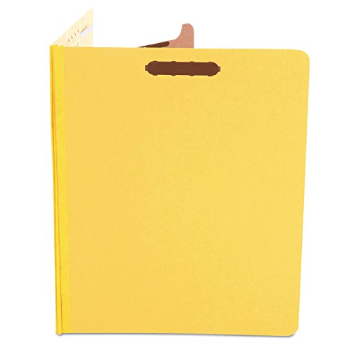 (Universal 10204 Pressboard Classification Folders, Letter, Four-Section, Yellow, 10/Box)