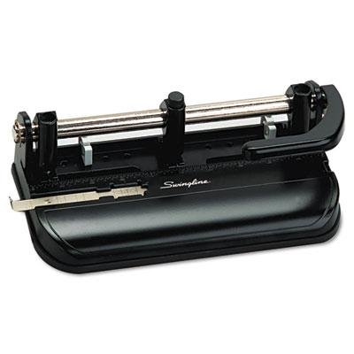 Swingline 32-Sheet Lever Handle Two- To Seven-Hole Punch, 9/32