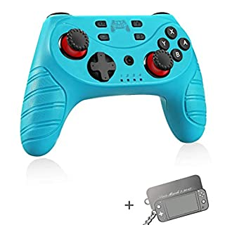 Wireless Switch Pro Controller for Nintendo Switch/Switch Lite,Switch Remote Joypad Control Games Joystick for Switch Consolewith Turbo,Gyro Axis,Motion & Vibration Shock,Work with Bluetooth(Blue)
