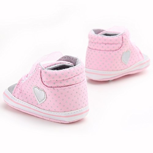 leap frog  Crystal Shoelace Sneaker, Baby Mädchen Lauflernschuhe Rose