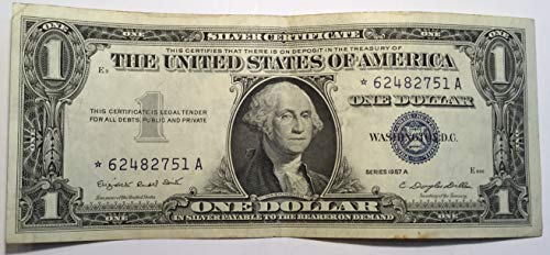 1957 A Series Star ⭐️ Blue Seal $1 One Dollar Silver Certificate US Note ()