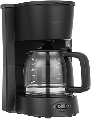 Lowest Price! AmazonBasics 5-Cup Coffeemaker with Glass Carafe