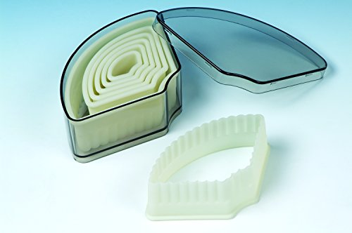 7 piece set Acrylic Fluted Cookie Cutter for Cookies, Pastry, Biscuits, Pie Tops, Sugarcraft and Cake decoration