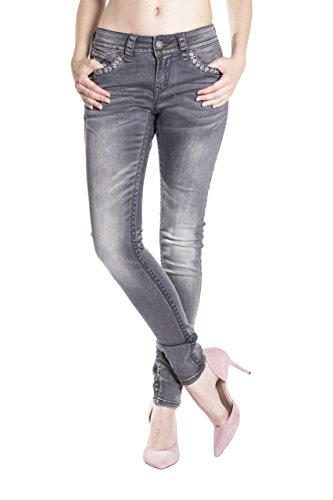 Vaqueros Mujer para Blue Gris Monkey Básico Jeans Skinny wOEBx