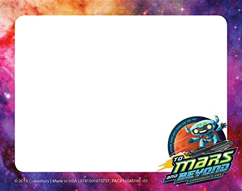 Vacation Tag - Vacation Bible School (VBS) 2019 To Mars and Beyond Nametag Cards (Pkg of 24): Explore Where God's Power Can Take You!