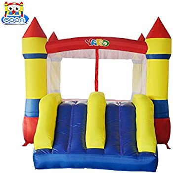 YARD Bounce House Dual Slide with Blower Indoor Outdoor Moonwalk Inflatable Bouncer Made of Nylon and Vinyl 12.1'x8.5'x6.9'