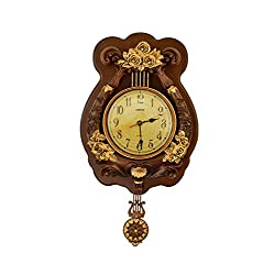 Three Star Vintage Wall Clock with Pendulum