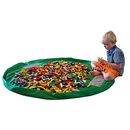 Children's Play Mat/Toy Organizer Floor Activity Mat (green)