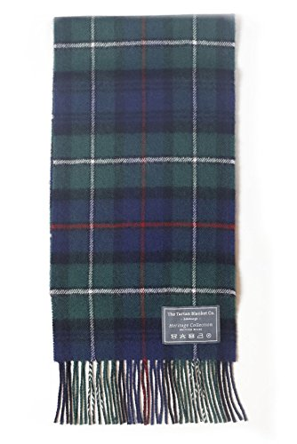 The Tartan Blanket Co. Scottish Lambswool Scarf Mackenzie Modern Tartan - Scottish Lambswool