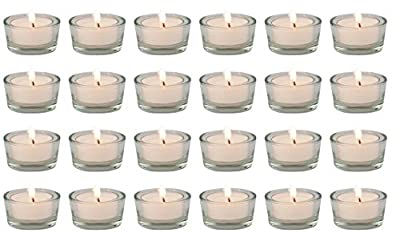 Biedermann & Sons Glass Tealight Holders, Box of 24