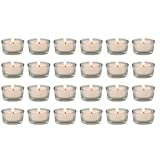 Biedermann & Sons Glass Tealight Holders, Box of 24