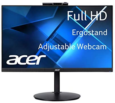 "Acer CB272 Dbmiprcx 27"" Full HD (1920 x 1080) IPS Frameless, AMD FreeSync, 1ms VRB, ErgoStand Monitor with Full HD Adjustable Webcam (Display Port, HDMI & VGA Ports)"
