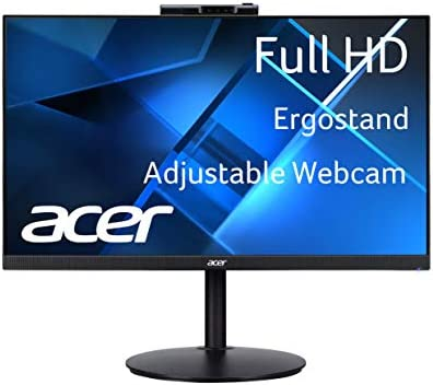 "Acer CB242Y Dbmiprcx 23.8"" Full HD (1920 x 1080) IPS Frameless, AMD FreeSync, 1ms VRB, ErgoStand Monitor with Full HD Adjustable Webcam (Display Port, HDMI & VGA Ports)"