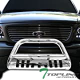 dodge aries - Topline Autopart Polished Stainless Steel Bull Bar Brush Push Front Bumper Grill Grille Guard With Skid Plate For 02-05 Dodge Ram 1500 ; 06-09 1500 Mega ( Extended Crew ) Cab ; 03-09 2500 / 3500