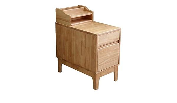 Mesas de café Máquina mesa estrecha cajón rectangular de madera ...