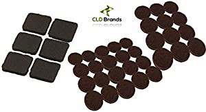 Self Adhesive Black Felt Pads Set   38 Pieces   Protect Flooring And Table  Tops From Scratches   Chair Glides For Furniture, Bar Stools, Lamps, Vases,  ...