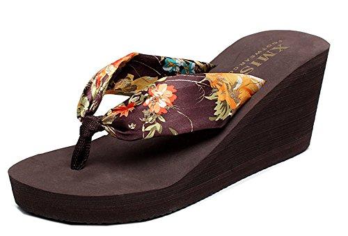 Plateau Tongs Mules Brun2 Easemax Spécial Femme Compensée Chaussure qZwnEzAHtx