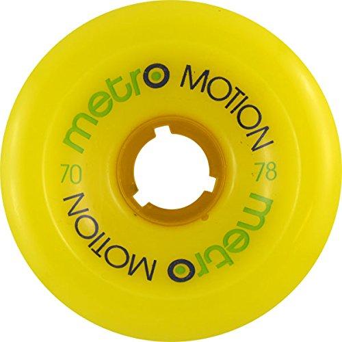 組立桁予測するMetro Motion 70mm 78a Yellow Skateboard Wheels (Set Of 4) by Metro