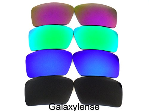 Galaxy Replacement Lenses for Oakley Eyepatch 1&2 Black&Blue&Green&Purple Color Polarized 4 pairs,FREE - 1 Lenses 4 2 Oakley