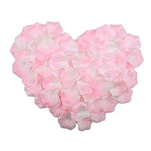 hkbayi 10bag 1000pcs Artificial Flowers Silk Rose Petals Favors Flower Simulation Petals for Wedding Party Decoration 31
