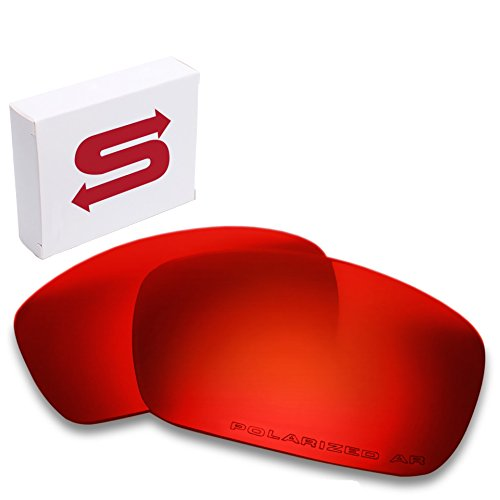 RED Oakley Fuel Cell Lenses POLARIZED by Lens Swap. GREAT QUALITY & FITS PERFECTLY. Oakley Fuel Cell Replacement - Oakley Lens Cell Fuel