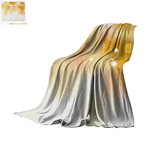 Taggies Sleeper (Pearls Warm Microfiber All Season Blanket Blurred Background with Golden Color Circles Classy Christmas Design Artwork Print Summer Quilt Comforter 62