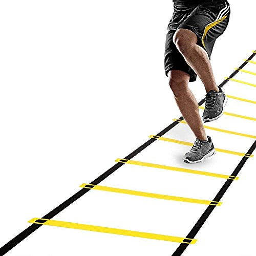 GOGO 12 Rungs Speed Agility Training Ladder For Improving Speed Fitness Leg Strength with Carry Bag