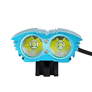 Recargable huntgold 6000 lm 2 x CREE XM-L U3 LED luz para bicicleta estarer para y#xFF23;ycling, Camping, pesca, senderismo, vela, Caving y caza, etc, + batería + cargador de CA 6400mAh + luz (azul faros) kabk
