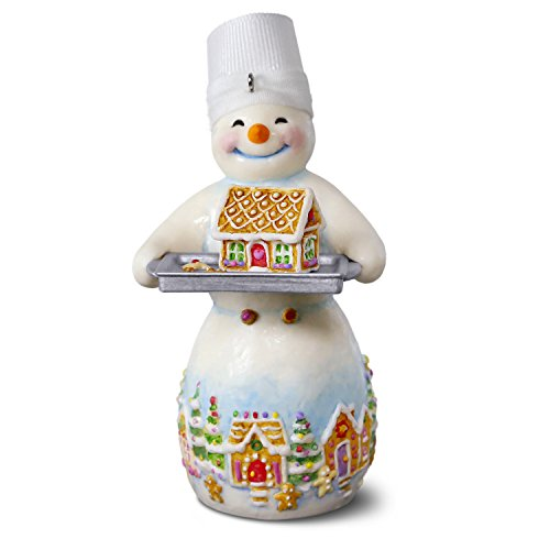 Hallmark Keepsake Christmas Ornament 2018 Year Dated, Snowman and Gingerbread House Snowtop Lodge Ginger N. Sweethaus Series #14]()
