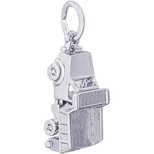 Rembrandt Charms Dump Truck Charm, 14K White Gold