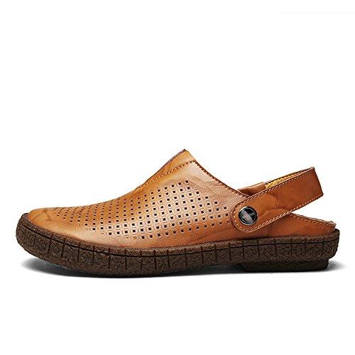 de Qingqing Aire Deportivas abs Brown Libre Zapatos Cerrados Agua Sudor de de Sandalias Playa Hombre Cuero Sandalias de de Zapatos Cerrados Verano para Pescador para Cuero al Zapatos de Hombres Sandalias rgrwTq