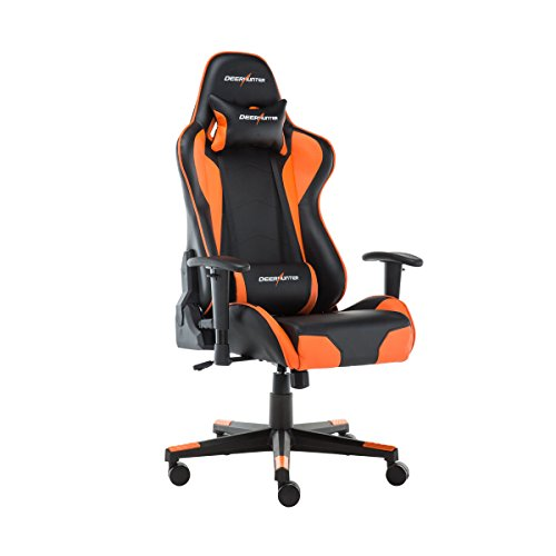 Deerhunter Gaming Chair, Swivel Leather Office Chair, High Back Ergonomic Racing Chair, Adjustable Computer Desk Chair with Lumbar Support and Headrest
