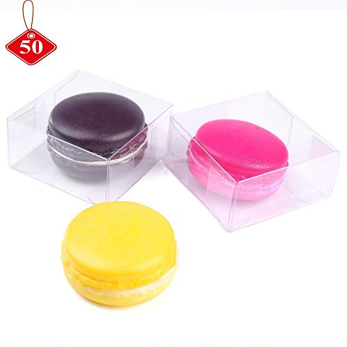 Plastic Gift RomanticBaking 50 Pack Bakery Packaging Boxes For Macarons, Pastries, Cookies, Mini Cakes, Pie,Candy from RomanticBaking