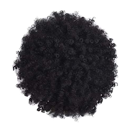 Wig Clearance Black Synthetic Curly Wigs for Women Short Afro Wig African American Natural by USLovee3000