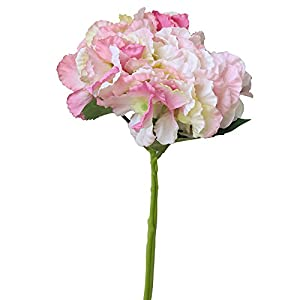 Rm.Baby 1Pcs Artificial Fake Flowers Peony Floral Real Touch Silk Material Arrangement Bouquets Bridal Hydrangea Home Garden Decor Room Office Centerpiece Party Wedding Decor(Vase not Included) 5