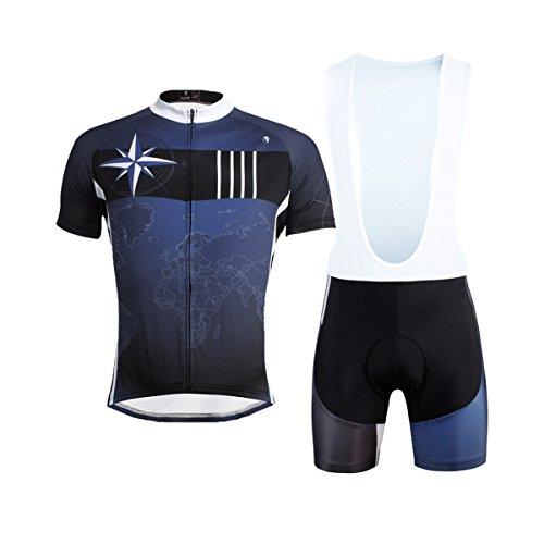 男らしさ敬意を表して曲線[paladin] サイクルジャージ 上下セット 吸汗速乾 通気がいい 夏用 スポーツ アウトドア サイズ選択可