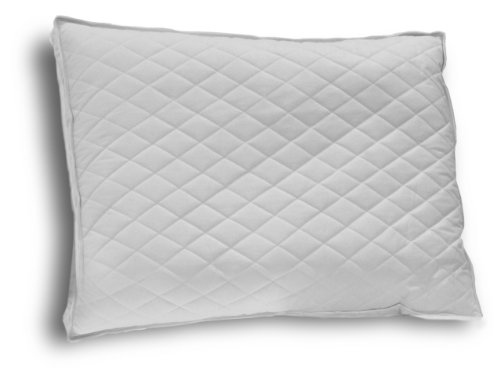 - Down Etc Diamond Support Duck Down Queen Feather Pillow, White