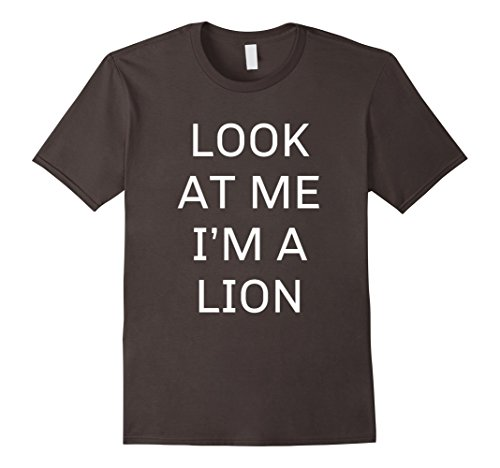 Mens Diy Lion Costume - Mens I'm a Lion Halloween Costume Shirt Women Men Kids Large Asphalt