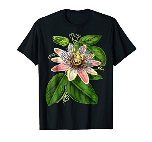 Solid Passion Flower - Passion Flower With Big Green Leaves T-Shirt
