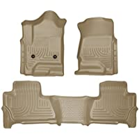 Husky Liners 99213 WeatherBeater Series Tan Front/Second Seat Floor Liner by Husky Liners