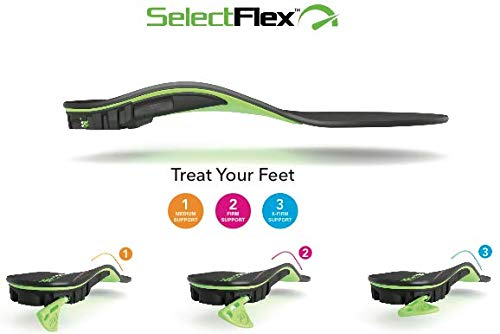 SelectFlex® WORLD'S ONLY ADJUSTABLE-ARCH ORTHOTIC INSOLE, Custom Arch Support: Plantar Fasciitis, Neuropathy, Flat Feet, Overpronation, Aching Feet, Foot Pain, Mortons Neuroma, Low Back Pain.Men/Women by SelectFlex (Image #9)