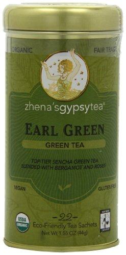 - Zhena's Gypsy Tea, Earl Green, 22-Count Tea Sachets (Pack of 6)