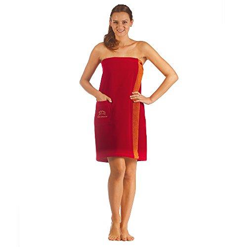Miss Alemania Capucha Abrigo, algodón, rojo, medium Rot Sarong