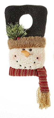 - Plush Snowman Door Hanger (Black Hat)