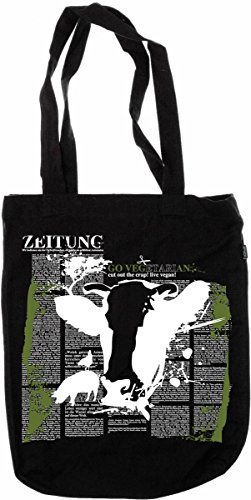 My-tagshirt–Organic Fashion Bag–Mucca–�?00% bio–Commercio Equo E Solidale–Nero