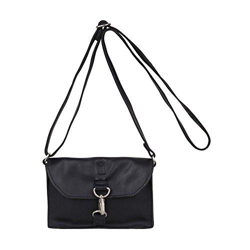Cuir Sac Cm Harlem Cowboysbag Bag Black Bandoulière 20 wxFaq
