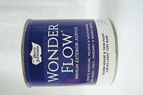 Trim Tint Base - Dutch Standard Wonder Flow Premium Exterior Acrylic Gloss House and Trim Paint, 126-92 Light Tint Base