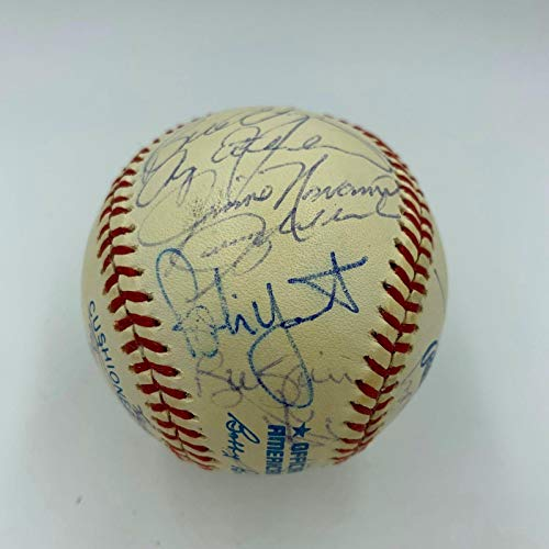 1991 Milwaukee Brewers Team Signed Baseball Paul Molitor Robin Yount COA - PSA/DNA Certified - Autographed ()