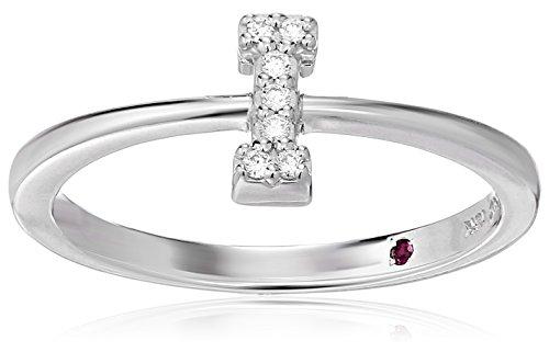 Roberto Coin Women's 001634AWLRXI Diamond Initial Ring, White, Size 7 ()
